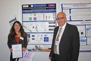 Winner of the VS Poster Prize last year was Nessa Fereshteh Saniee, Department of Physics, University of Warwick, who is pictured here with Robin Hathaway (Chairman of the VS Committee).